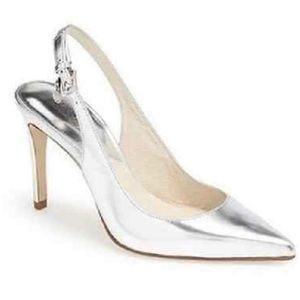 MICHAEL KORS Elisa Sling Patent Leather SILVER
